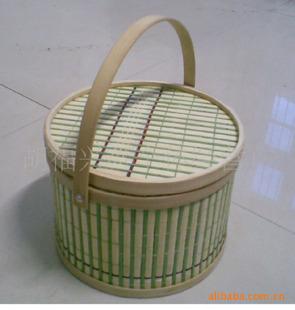 厂家直销 批发供应各种规格竹篮 包装海产品工艺篮子