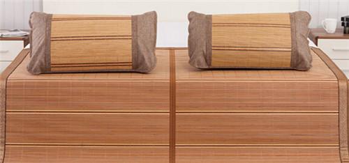 双面折叠竹凉席厂家直批 原味三合一冰丝竹席 爆款