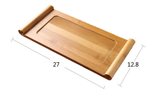 小号竹茶托个人小茶奉 枕形板干泡茶盘 功夫茶具 餐托盘