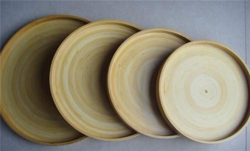 手工竹托盘/装饰盘(四件套) 竹木制品批发定制 量大从优