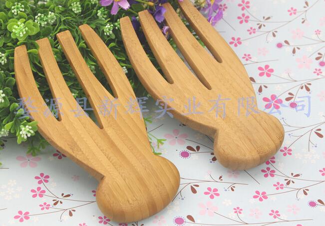 供应【优质】竹沙拉手,沙拉爪,竹餐具