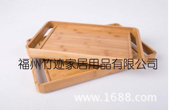 竹跡制品 供應精美出口日式竹木托盤 竹子茶盤 餐盤 酒店毛巾盤