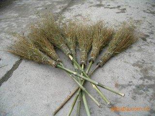高粱竹扫把,环卫直柄竹扫帚,工业直柄竹扫帚纯手工轧制量大品