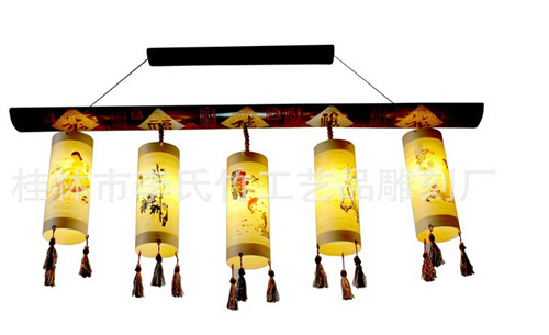 中式吊灯 精品吊灯 竹制灯具 仿古灯具 高档艺术灯具
