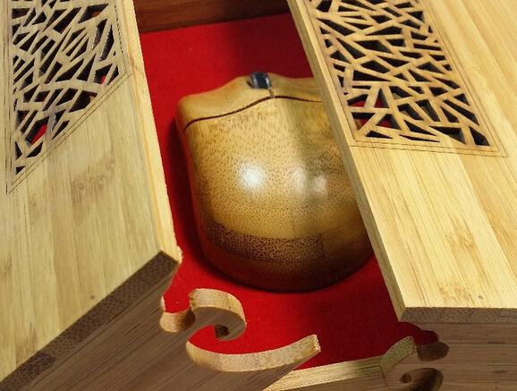 竹木鼠标礼品套装竹盒移动电源礼盒竹木镂空礼品盒工厂定制批发