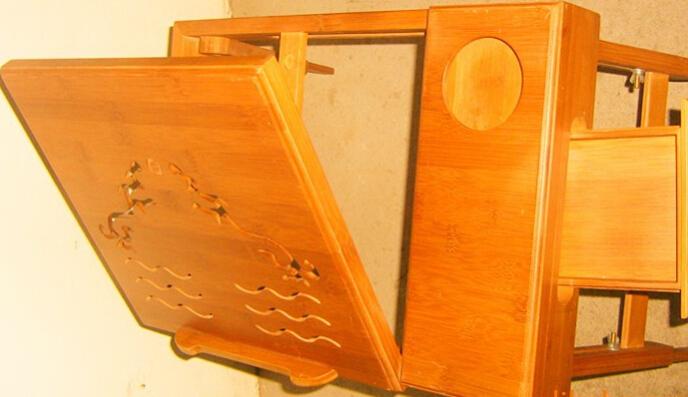 床上笔记本电脑桌 高档楠竹 折叠方便