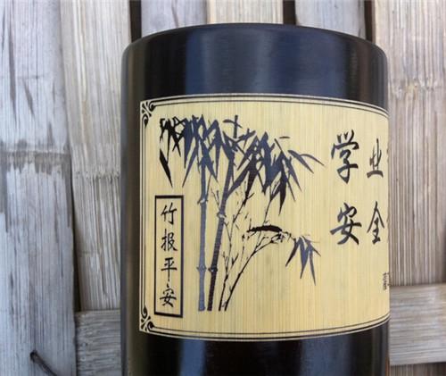 厂家直销仿古11.5CM竹制笔筒 工艺品 办公用品 可来样定做