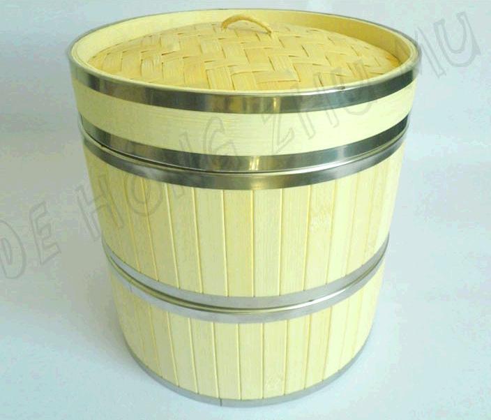不锈钢蒸笼 竹蒸笼 不锈钢包边蒸笼 蒸笼批发 新款蒸笼