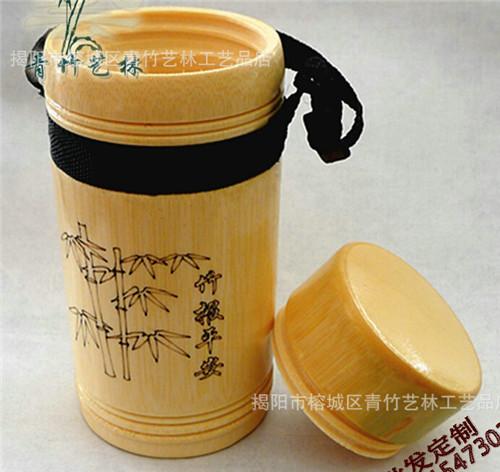 【厂家供应】批发、定制竹制品环保水杯、雕花加盖水杯加工