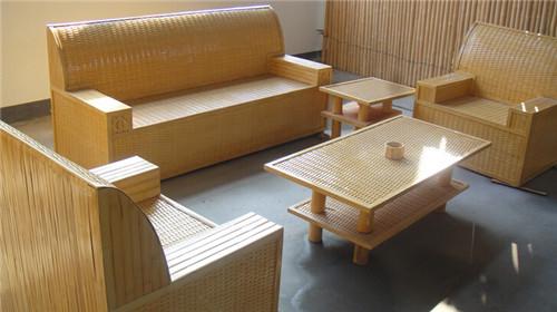 竹沙發組合五件套 純手工打造 竹制沙發