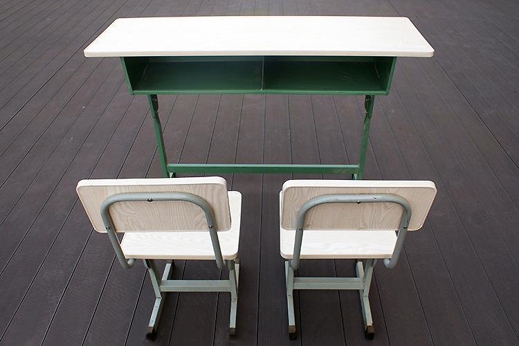 學生 課桌椅 免漆板鋼架桌椅 竹制課桌椅