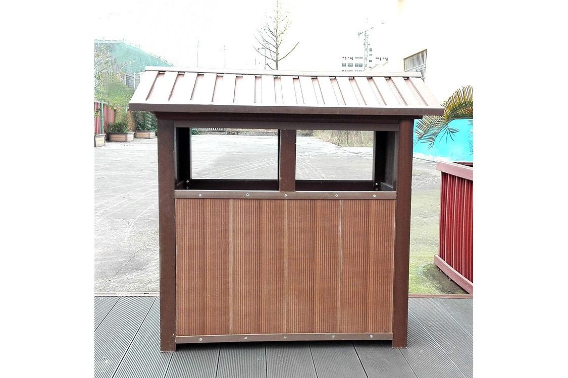 竹纖維環竹塑保垃圾桶 小區公園 公共空間竹制品環保收納箱 耐用