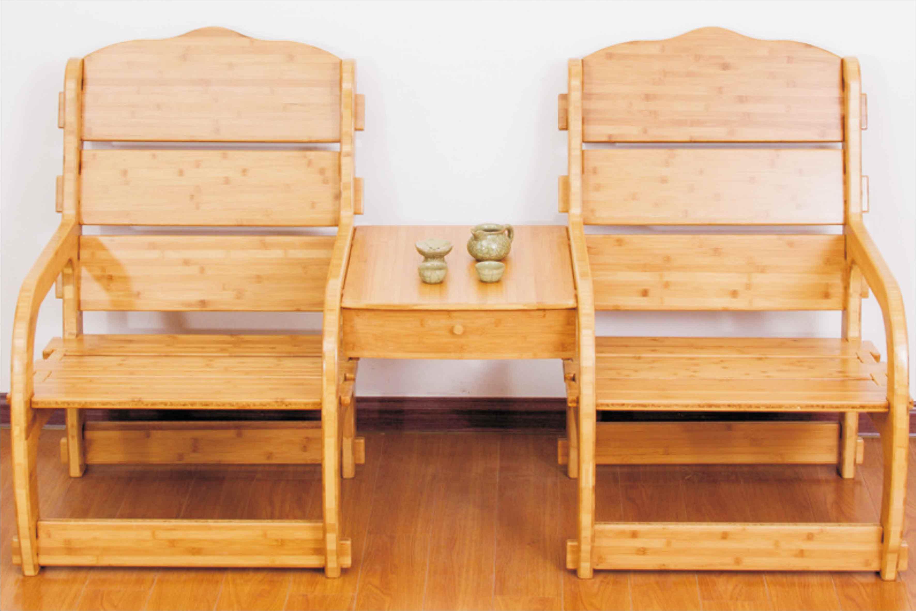 无金属全竹拼接商务椅 家用双人沙发竹椅 内外贸加工定制DIY组合