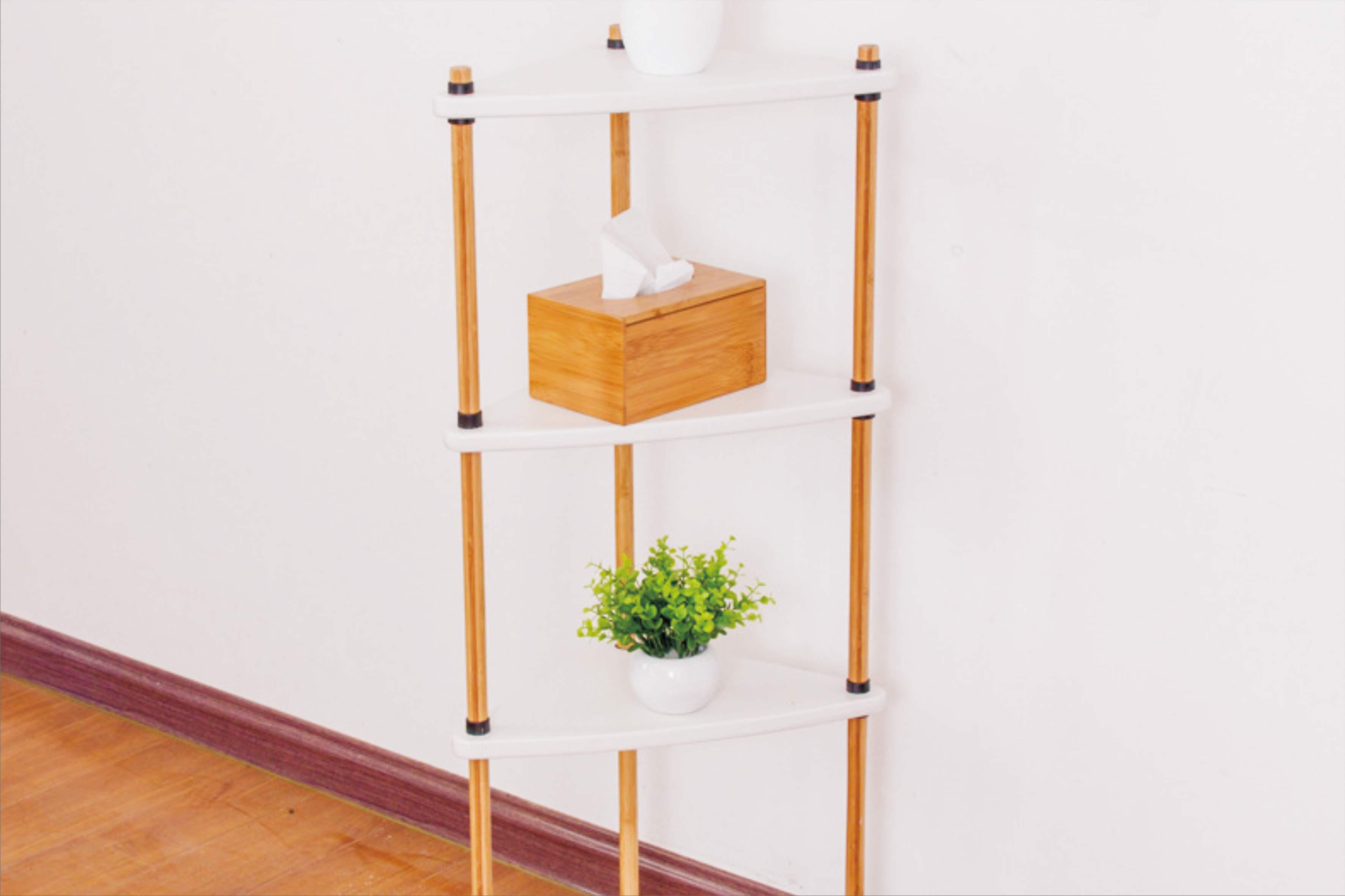 置地式浴室厨房收纳架 楠竹无金属设计多功能竹架