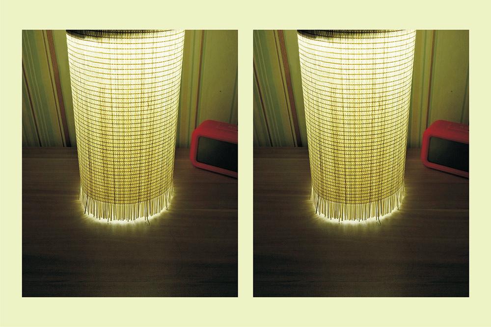 灯罩卧室阳台餐厅竹编灯竹艺吊灯 方形14cm高30cm铁艺带丝