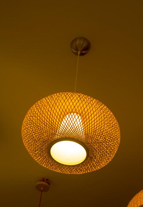 編織工藝竹燈