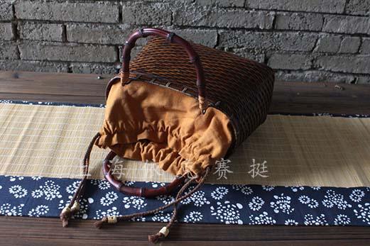 竹包裝籃 手工編織籃