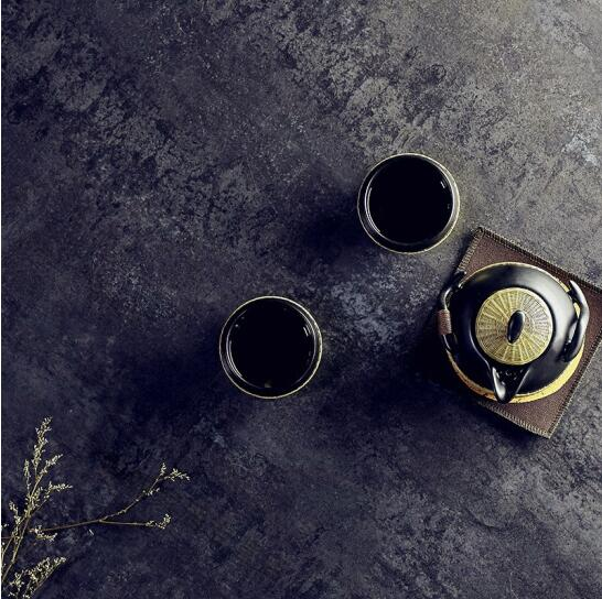 瓷胎竹編 功夫便攜茶盤一壺兩杯帶旅行包泡茶,快客杯旅行茶具