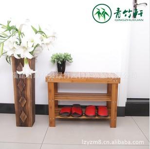 供应62cm 楠竹制作多功能三层换鞋凳