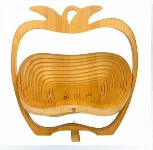 楠竹水果篮 可折叠方便果篮