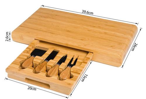 組合竹菜板竹制砧板切菜板案板面包切板菜刀套裝廚房用品抗菌外貿
