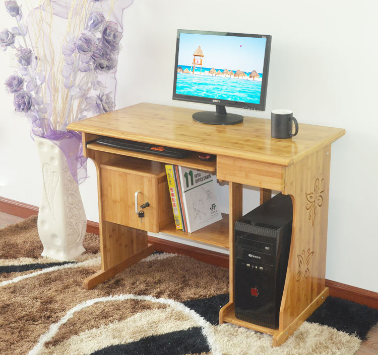 竹制台式电脑桌