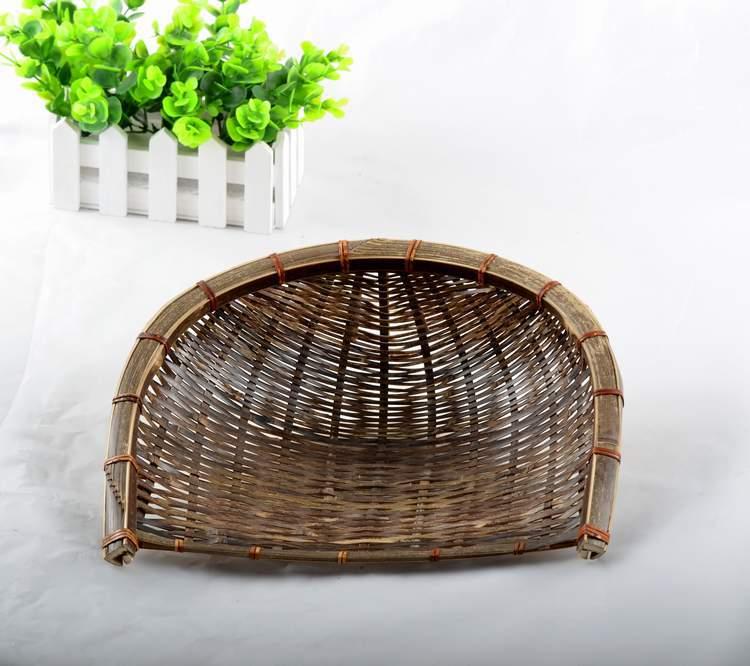 中国铭雕坊竹制品 竹编簸箕厂家直销新品热卖家居必备收藏品购买