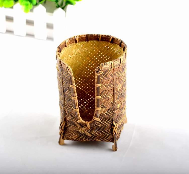 中国铭雕坊紫竹竹编杯篓厂家直销热卖精品有趣回归古典崇尚自然