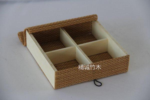 廠家直銷方形編織竹餐盒 天然竹制品竹餐盒 精美壽司竹餐盒