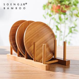 沥水盘碟碗架 宜家收纳架 竹制厨具用品