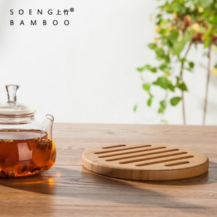 镂空圆形隔热垫 楠竹制品 欧式创意 竹木锅垫杯垫