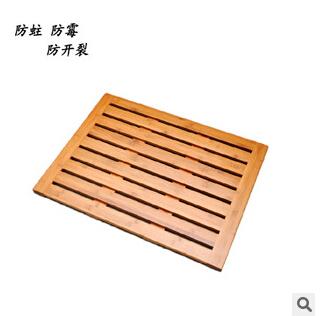 批發定制 竹制防滑墊 浴室洗澡防滑板 衛生間鏤空防霉腳墊 竹制