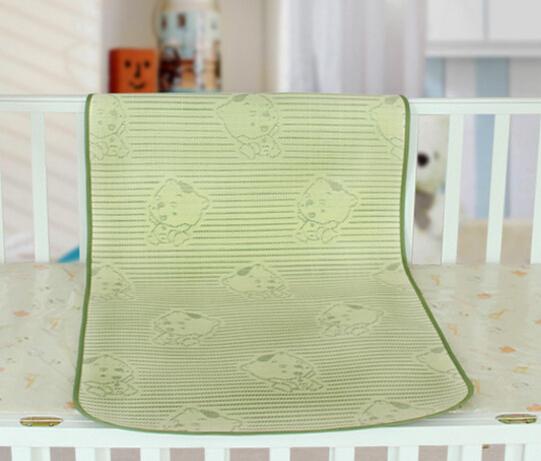 竹炭亚麻草三明治凉席 童床婴儿床儿童床凉席