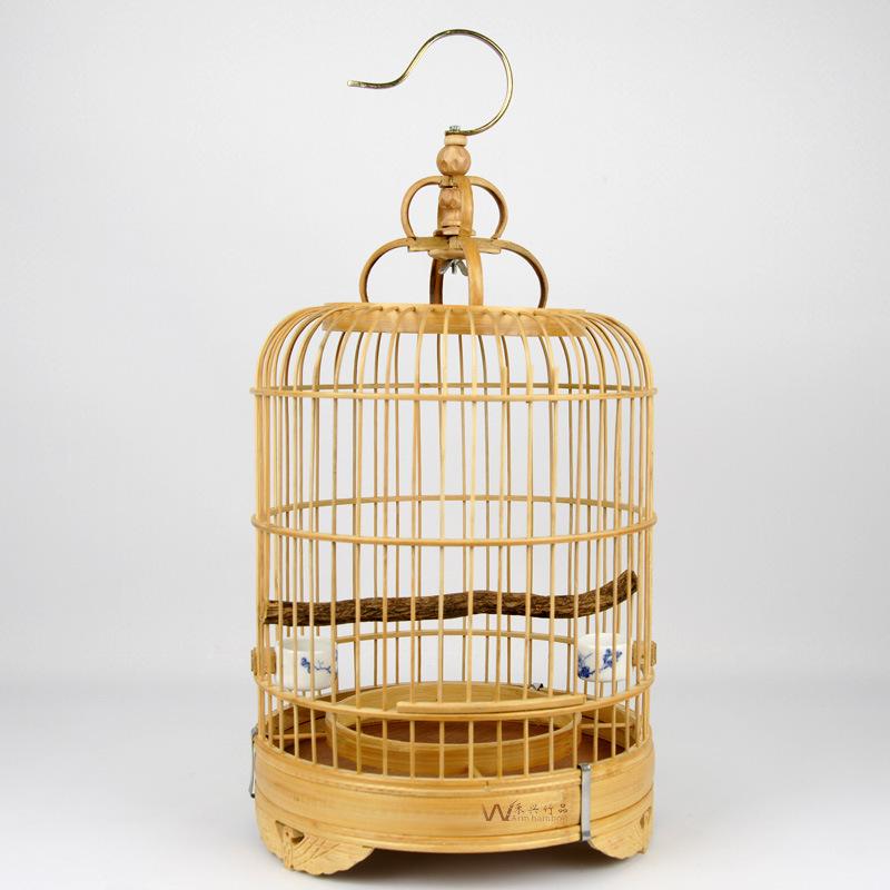 純竹制手工中式鳥籠桌面裝飾擺件家居餐廳吊掛飾
