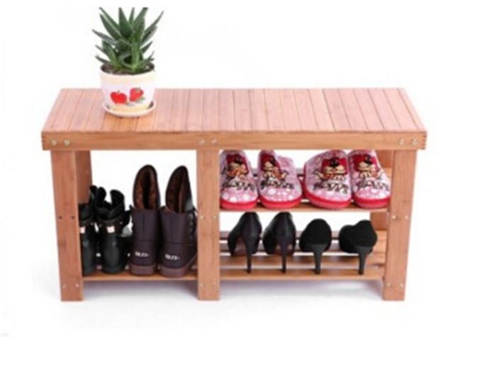 全竹换鞋凳 收纳 碳化处理防霉防蛀 厂家直销