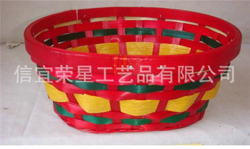 长期销售 环保酒店竹篮包装 时尚红色优质竹篮