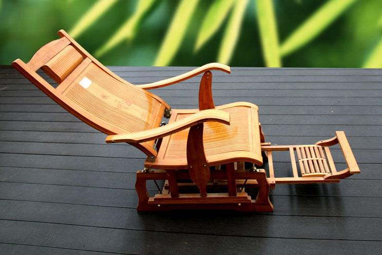 纯手工竹制太空椅 午睡躺椅办公室睡椅 休闲靠椅