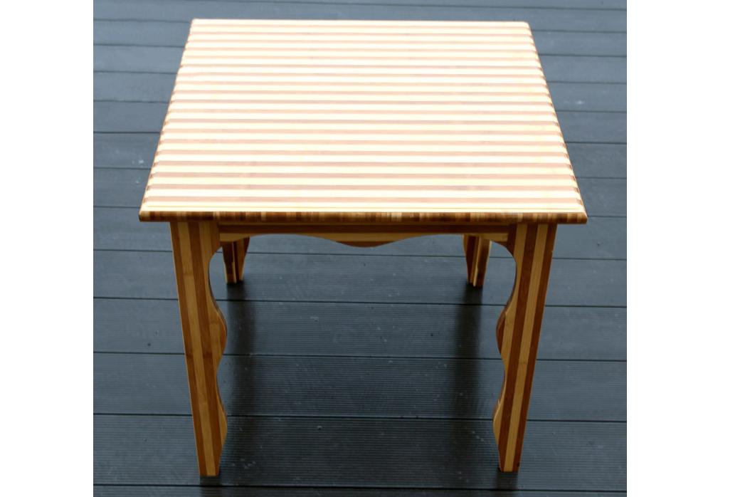 纯手工纯竹制家用餐用小方桌 休闲棋牌桌
