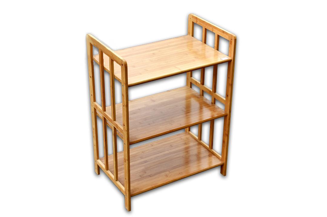纯手工实心全竹制厨房用具 置物架 微波炉环保居家置物架
