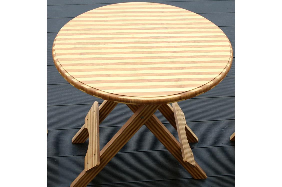 纯手工竹制品耐用结实方便可折叠餐用圆桌棋牌桌