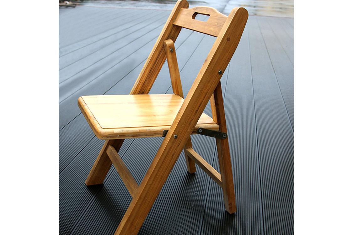 手工純竹制榫卯工藝 單人布藝休閑折疊靠椅