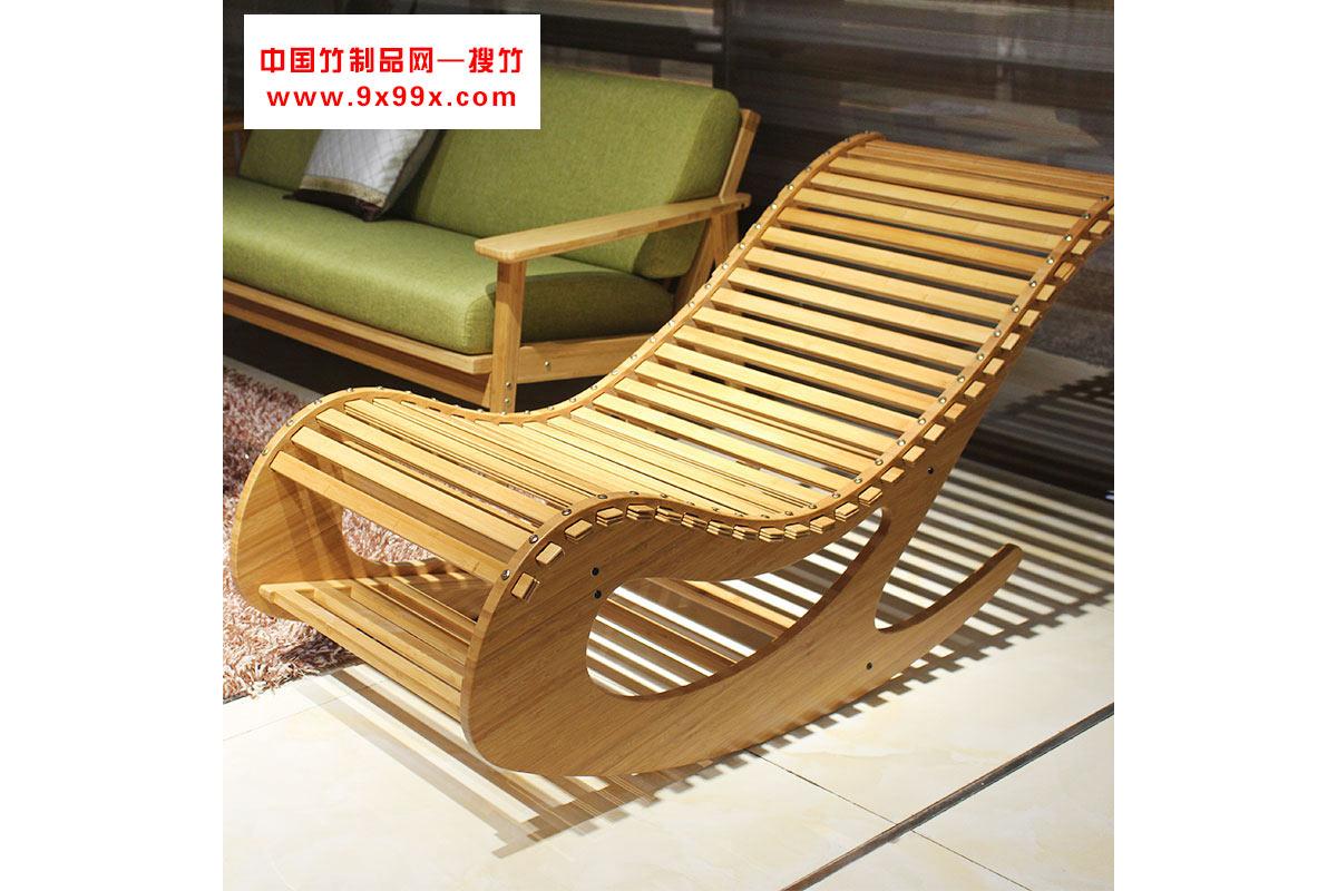 全竹摇椅阳台逍遥椅子休闲靠背椅午休椅 老人躺椅