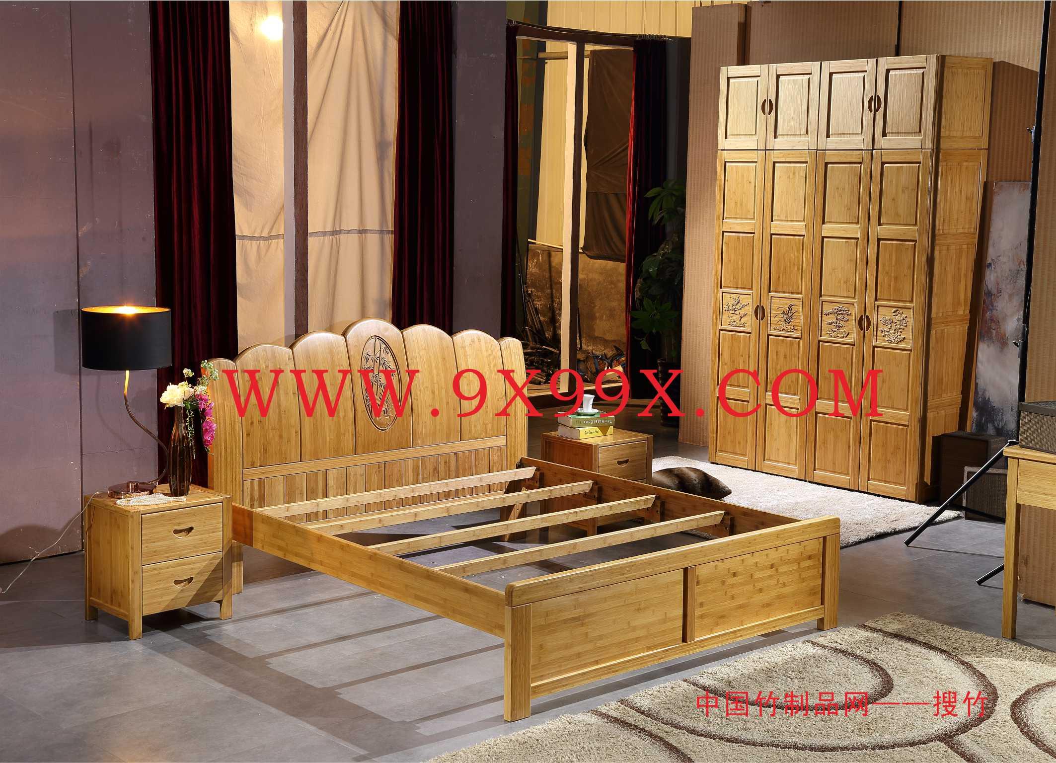 竹床折單人雙人午休午睡實竹板式家用簡易竹子床