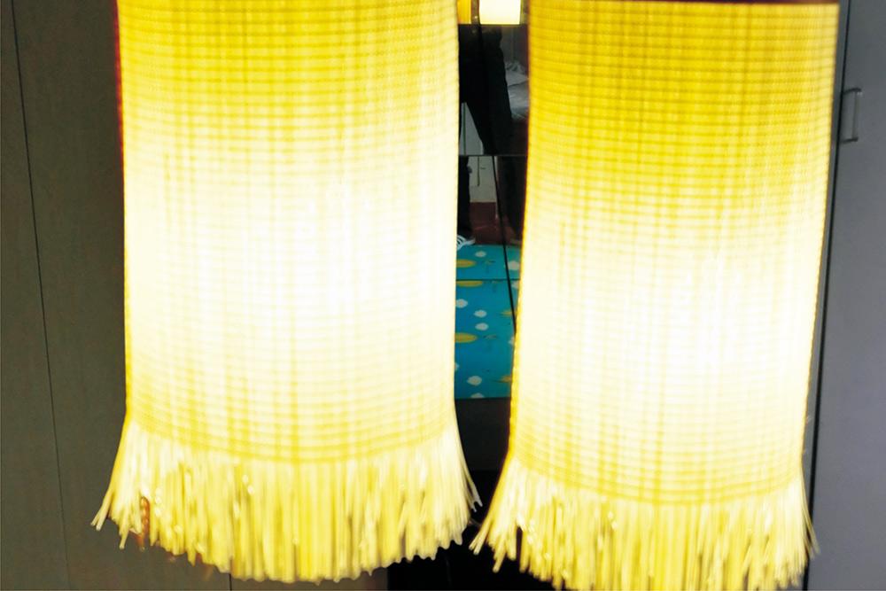 燈罩臥室陽臺餐廳竹編燈竹藝吊燈 方形14cm高30cm鐵藝帶絲