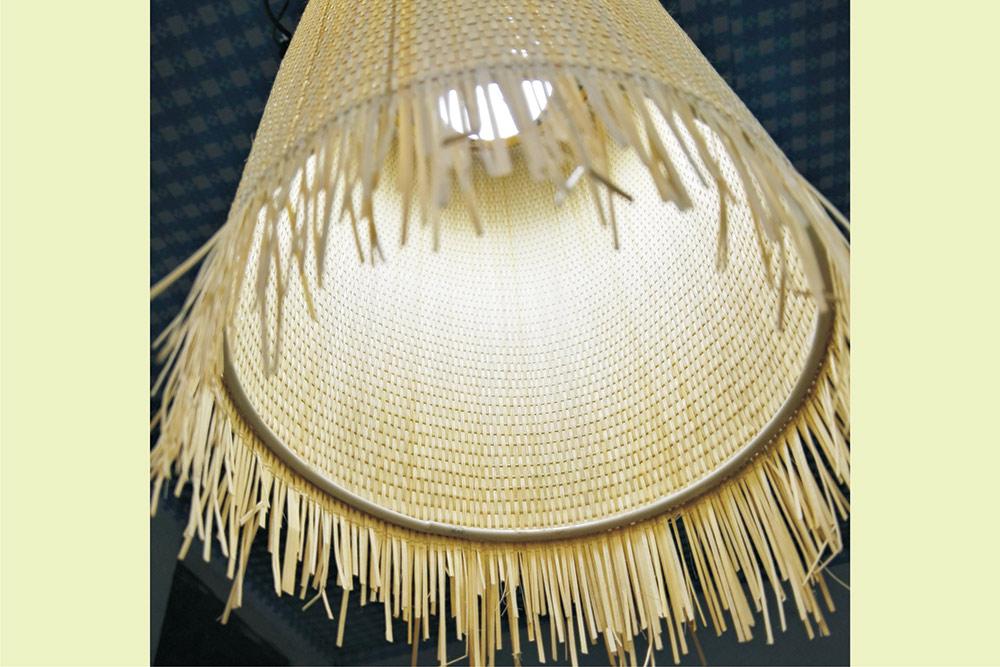 竹藝吊燈 竹編 田園餐廳走廊過道吊燈 方形14cm高30cm鐵藝