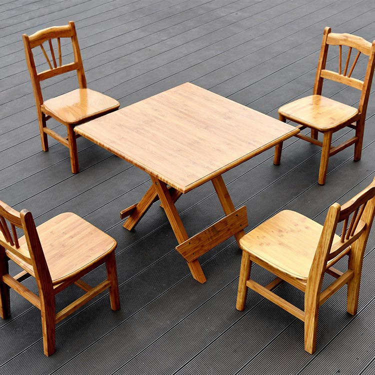 純手工竹制工藝簡易折疊休閑棋牌方桌多功能餐桌