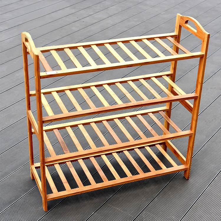 純手工竹制品簡易鞋架多層收納鞋柜
