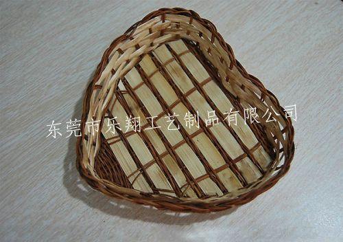竹片手工编织篮/竹条编织心型灯罩/流行心型灯罩