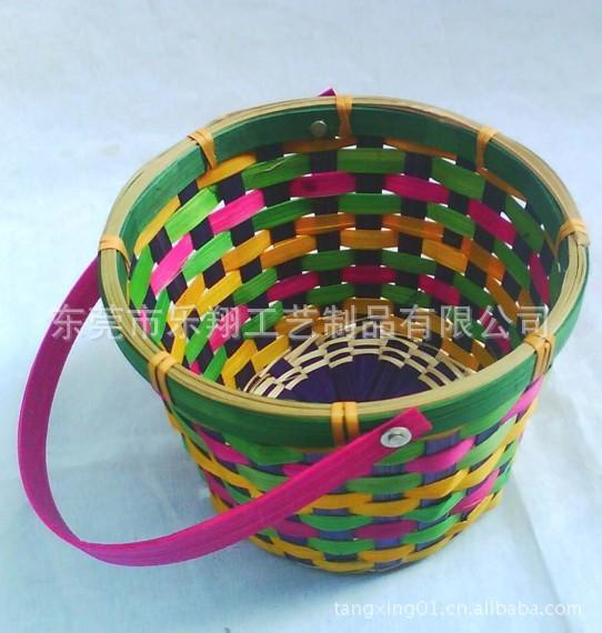 方形竹篮,手工编织篮子,竹编食品包装篮,礼品篮设计