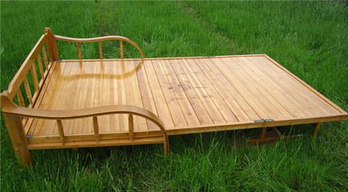 折疊竹床 躺椅 全竹碳化折疊竹床 兩用竹木沙發 一件代發